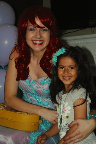 The birthday girl with Ariel