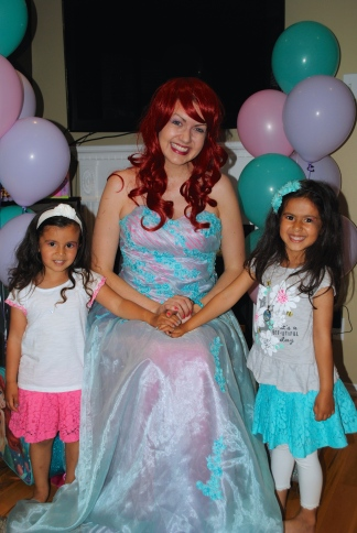 My girls with Ariel